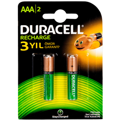 Bigpoint - Duracell AAA Şarj Edilebilir Kalem Pil 2'li Paket