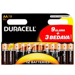 Bigpoint - Duracell Alkalin AA Kalem Pil Ekonomik 9+3'lü Paket