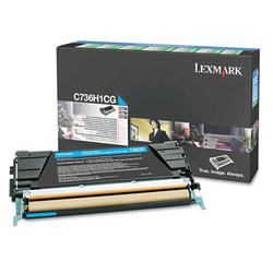 Lexmark - Lexmark C736-C736H1CG Mavi Orjinal Toner Yüksek Kapasiteli