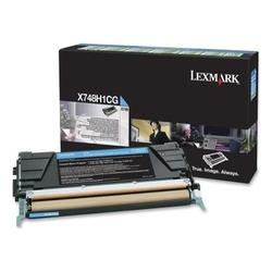 Lexmark - Lexmark X748-X748H1CG Mavi Orjinal Toner Yüksek Kapasiteli