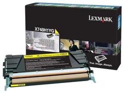 Lexmark - Lexmark X748-X748H1YG Sarı Orjinal Toner Yüksek Kapasiteli