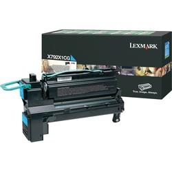 Lexmark - Lexmark X792-X792X1CG Mavi Orjinal Toner Yüksek Kapasiteli